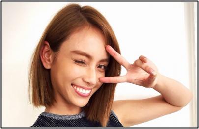 滝沢カレン髪型切りっぱなしボブ